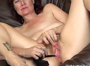 American milf Zoe stuffs will not hear of pussy with stockings