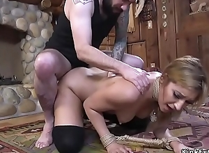 Seductive student pounded in bdsm