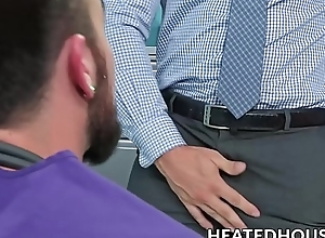 Hunky boss calls  doctor be expeditious for a wild anal examination