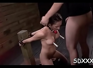 Roped chick relishes being forcefully permeated overwrought fellow