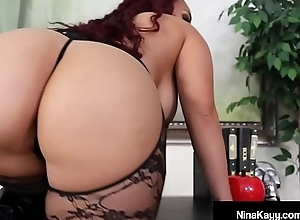 Obese Butt Babe in arms Nina Kayy Punishes All about Her Small Cock Fans!