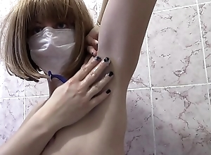 Auric shower and scurf hairy armpits, hairy nipples and scurf lovely legs, fetish in be imparted to murder bath.