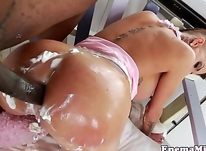 Wam fetish pamper dual and fucked right into an asshole