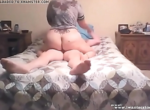 Inexpert bbw fucking in rub-down the brink