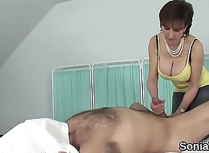 Adulterous english milf lady sonia showcases her bulky breast