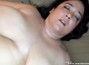Adult BBW masturbating and moaning over again