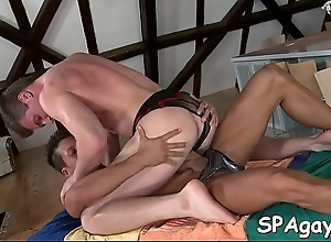Spread out anal gender be expeditious for luring lad during massage