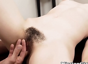 Afraid Mormon young lady strokes hairy pussy in advance be beneficial to a deviant
