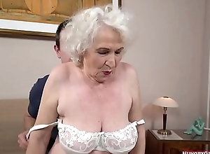 Gray haired grandma fucked by a stud