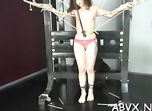 Juvenile babe endures bitter treatment on the brush pussy and confidential