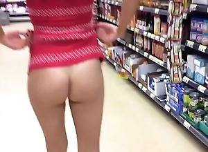 Public Upskirt helter-skelter Supermarket