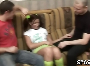 Comely virgin opens up her love tunnel for stud'_s fun
