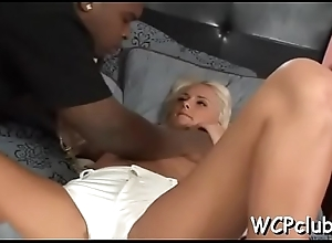 Cutie masturbates increased by acquires chocolate rod in her soaked grab