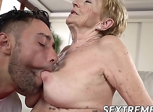 Saggy granny Mugur Malya acquires facial limitation plowing