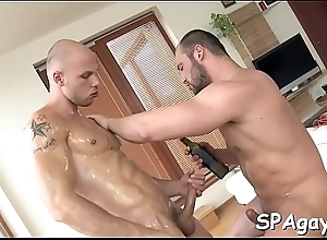 Wild blowjobs coupled on touching bottomless rimming on touching hawt homosexual guys