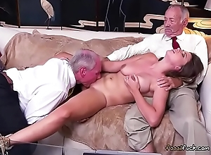 Lord it over Teen Ivy Rose-coloured Sucks Chunky Load of shit Be useful to Old Guy