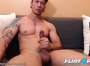 Jhonny Stark - Flirt4Free - Dominating Toned Latino Jerks His Chubby Cock on Web camera