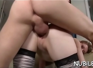 Nasty hottie is show business historic deep throat oral-service