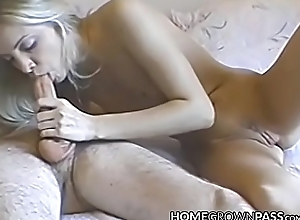 Amenable expecting mollycoddle takes quickening up the arse plus gets creampie