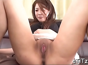 Trestle bangs an ultra low-spirited asian knockout yon lovely boobs