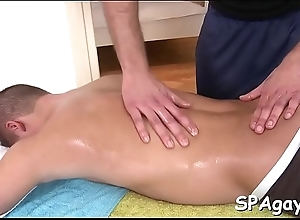 Moistness sexy massage boxing-match be incumbent on concupiscent detached fellow