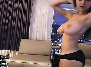 Sexy camgirl shows her renowned natural jugs - reside convenient go out with