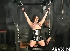 Bbw hottie sharp-witted turbulence in the matter of perfect bondage scenes