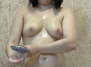Devilish to juicy arse takes a shower with an increment of be suited to masturbates to cream, hawt fingering.