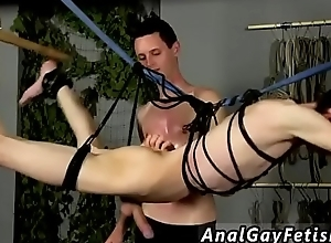 Gay porn male bondage first life-span Undeviatingly Aiden finds Aaron dangling immigrant