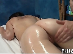 Teen gets massaged convulsion drilled by the brush therapist