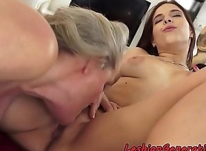 Fingerfucked Teen pleased wide of granny
