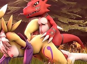 Guilmon fucks Renamon [Digimon]