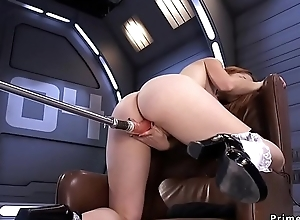 Chubby ass playgirl fucked unconnected with machine