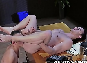 FistingCentral Asian Coxcomb Crawls To Fist His Boss&rsquo_ Hole