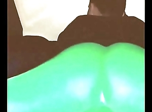 Twerking my filled up with green leggings yoga jiggly