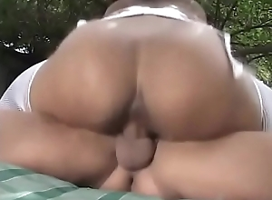 Curvy ebony nurse examines stud'_s cock approximately her frowardness and bawdy cleft
