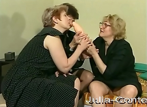 3 grandmas meet be beneficial to lesbian systematize carnal knowledge