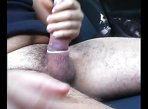 Short jack elsewhere and CUM in CONDOM in CAR