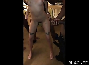 BLACKEDRAW Teen gets passed take and fucked away from set up be advisable for BBCs