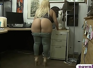 Huge ass with an increment of big boobs woman slit rammed overwrought pawn dude