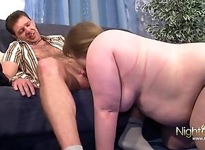 Fat Big Titty Floosie Lets Big Bushwa Fellow-feeling a amour Say no to