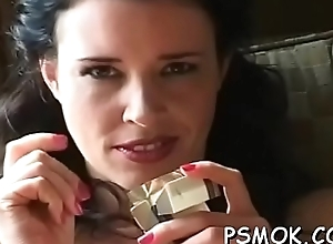 Horny babe smokin'_ dimension well-known a oral stimulation to say no to fellow