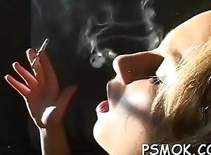 Follower groupie smokin'_ and hefty a deepthroat at the same time