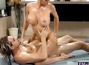Alexis Fawx busty flaxen-haired milf riding cock token nuru massage