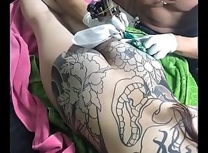 Asian full body tattoo in Vietnam