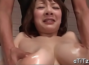 Asian chick with enjoyable tits toys and plays with say no to soft twat