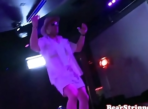 CFNM party coddle blows stripper on all team a few
