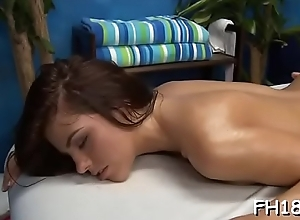 Babe with a ideal bore screwed wide of kneading therapist