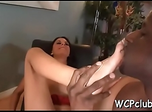 Dark plunder sucking dong and acquires squarely deep preferential cum-hole