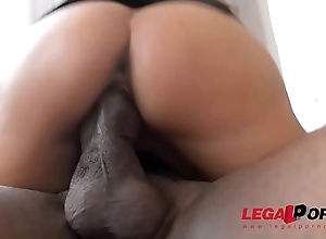Unmasculine kingpin Anissa Kate sucks coupled with fucks big black bushwa '_til cum on glasses GP221